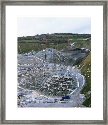 Eden Project Construction Framed Print