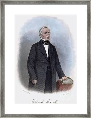 Edward Everett (1794-1865) Framed Print