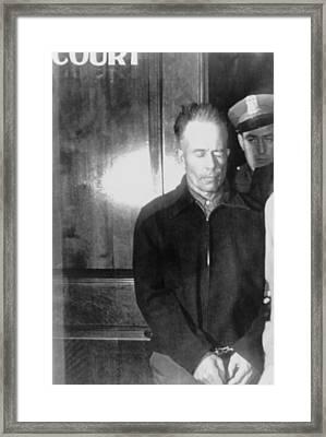 Edward Theodore Ed Gein 1906-1984 Framed Print