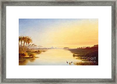 Egyptian Oasis Framed Print by John Williams