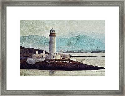 Eilean Musdile Lighthouse  Framed Print
