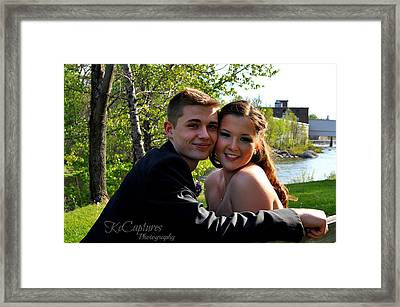 Elaine And Zac Framed Print by Casey Riitano