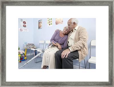 Elderly Patients Framed Print by Adam Gault