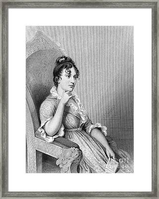 Eleanor Parke Custis Lewis (1779-1852) Framed Print by Granger
