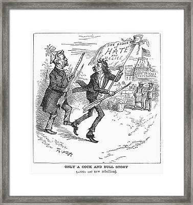 Election Cartoon, 1884 Framed Print