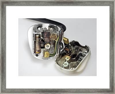 Electric Plug Framed Print by Sheila Terry