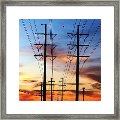 Electric Sunset Framed Print
