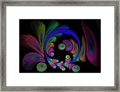 Electric Wreath Framed Print