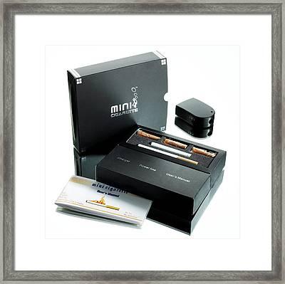 Electronic Cigarette Framed Print