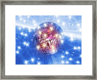 Electronic World, Artwork Framed Print by Mehau Kulyk