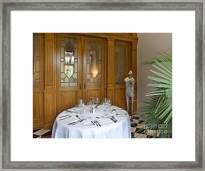 Elegant Dining Setup Framed Print