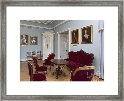Elegant Seating In A Manor Framed Print