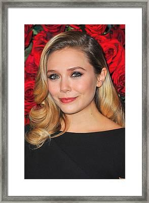 Elizabeth Olsen At Arrivals For Momas Framed Print