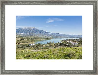 Embalse De La Viñuela, Vinuela Reservoir, Spain Framed Print by Ken Welsh