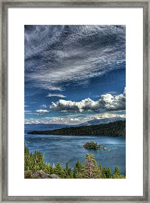 Emerald Bay Framed Print by Carlos Quiroz