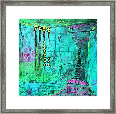 Emerald World Framed Print by Lolita Bronzini