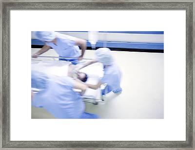 Emergency Hospital Treatment Framed Print by