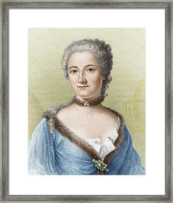 Emilie Du Chatelet, French Physicist Framed Print by Sheila Terry