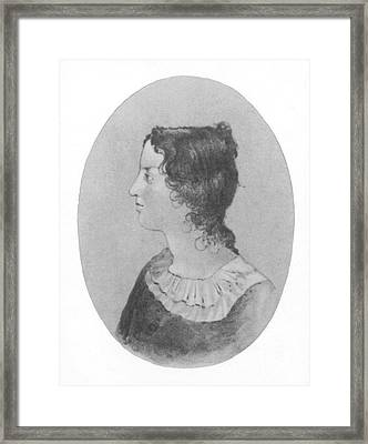 Emily Bronte, English Author Framed Print