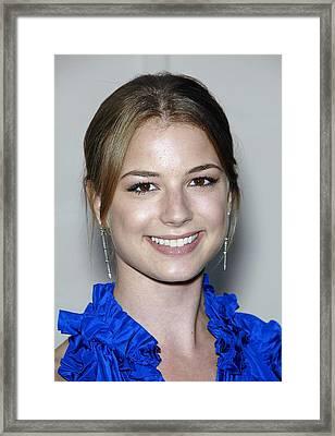 Emily Vancamp In Attendance For Atas Framed Print