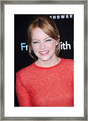 Emma Stone At Arrivals For Friends With Framed Print by Everett