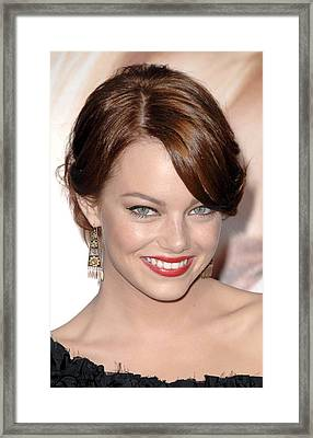 Emma Stone At Arrivals For Premiere Framed Print by Everett