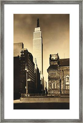 Empire State Building, In New York City Framed Print by Everett