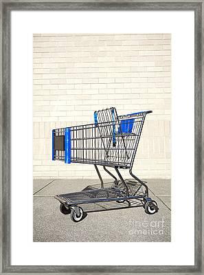 Empty Shopping Cart Framed Print
