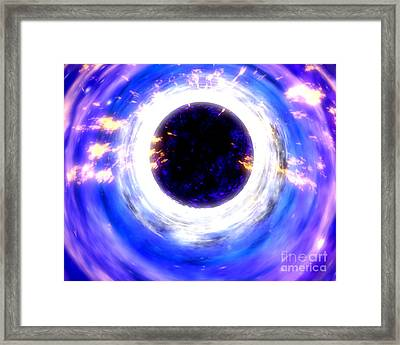 Energy-releasing Black Hole Framed Print by NASA / Science Source