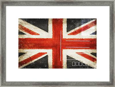 England Flag Postcard Framed Print by Setsiri Silapasuwanchai