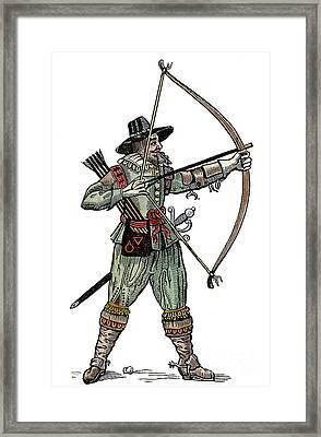 English Archer, 1634 Framed Print by Granger