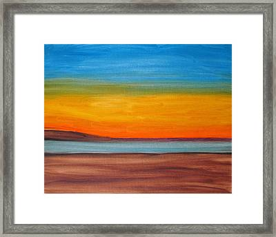 English Bay Sunset Framed Print