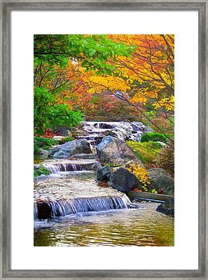 Enjoy Fall ... Framed Print by Juergen Weiss