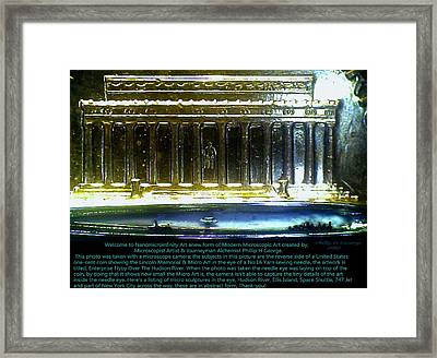 Enterprise Flyby Over The Hudson River Info Photo No.7 Framed Print by Phillip H George