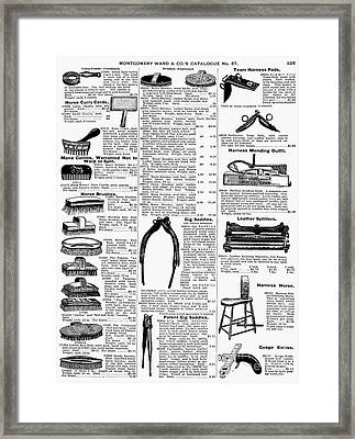 Equestrian Equipment, 1895 Framed Print