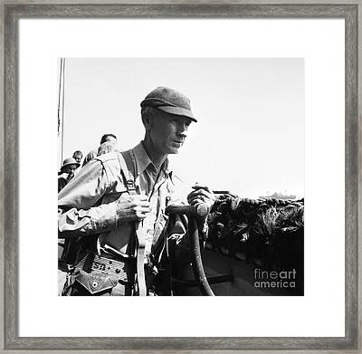 Ernie Pyle (1900-1945). American Journalist. Photograph, C1942 Framed Print by Granger