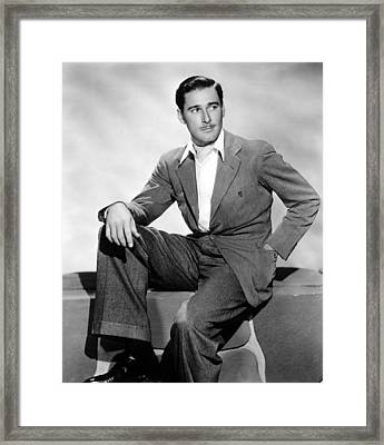 Errol Flynn, 1930s Framed Print by Everett