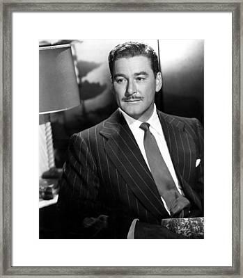 Errol Flynn, 1950s Framed Print