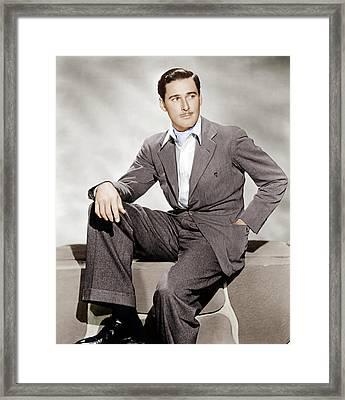 Errol Flynn, Ca. 1930s Framed Print