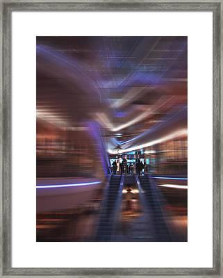 Escalators Framed Print