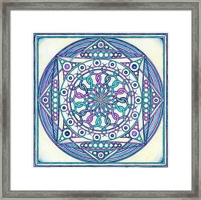 Eternity Mandala Framed Print by Hakon Soreide