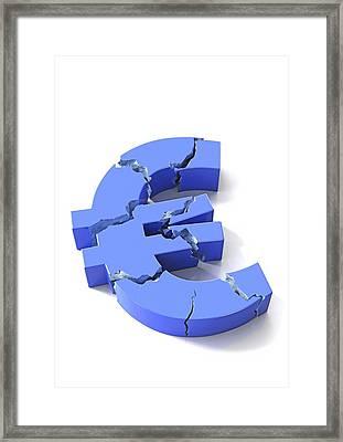 Euro Crisis, Conceptual Artwork Framed Print by David Mack