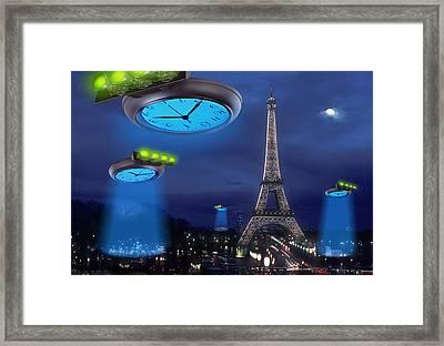 European Time Traveler Framed Print
