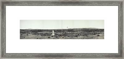 Eva Wells In Las Vegas, Nevada, Circa Framed Print