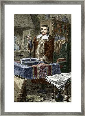 Evangelista Torricelli, Italian Physicist Framed Print by Sheila Terry