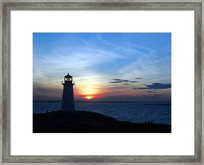 Evening At Peggy's Cove Framed Print by George Cousins