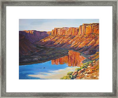 Evening Float Bowknot Bend Framed Print