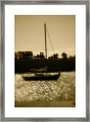 Evening Sail Framed Print by Jez C Self