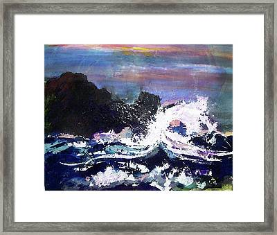 Evening Wave Framed Print by Valerie Wolf