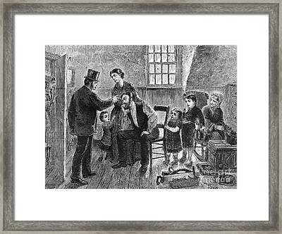 Eviction, 1873 Framed Print by Granger